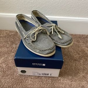 SPERRY TOP-SLIDER BOAT SHOE A/O SAHARA GREY 11M